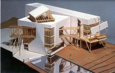 Frank o gehry a f a s i a for Model house building materials