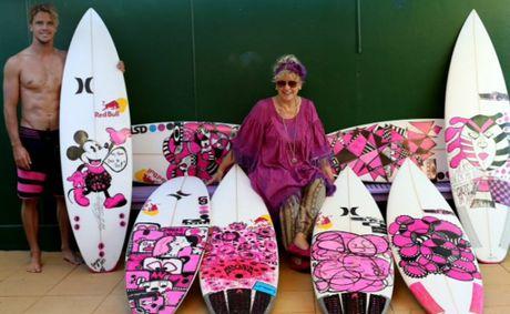 Julian Wilson Pink Breast Cancer Board