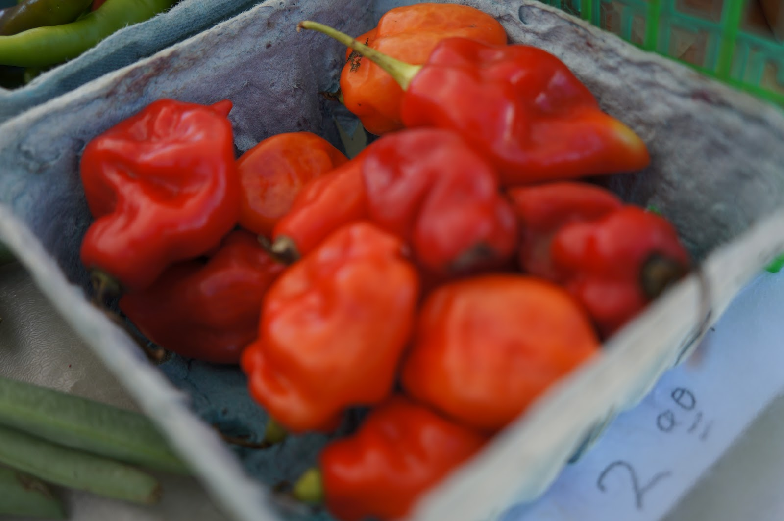 Peppers from Shamba Farms at the West End Farmers Market taken by Knerq