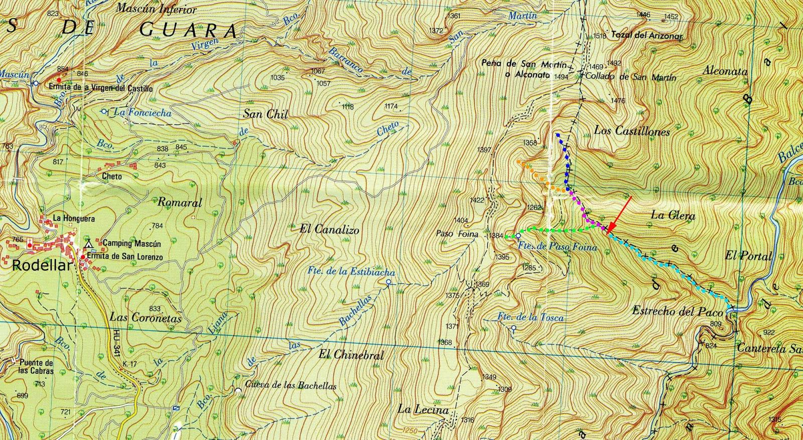 Mapa IGN 1:25000. Serie MTN25. Hoja 249-I, Rodellar. 2ª edición ...