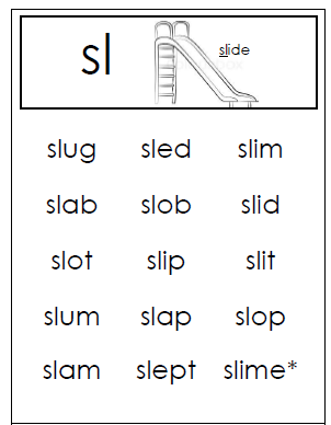 SLide into Reading with SL Blends! ~ TJ Homeschooling