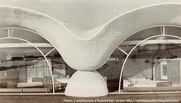 Châtillon-en-Michaille - Marché aux Meubles, Transit-Mobilier  Conception architecturale: Jean-Louis Chanéac  Ingénieur-conseil: Mounié   Construction: 1970