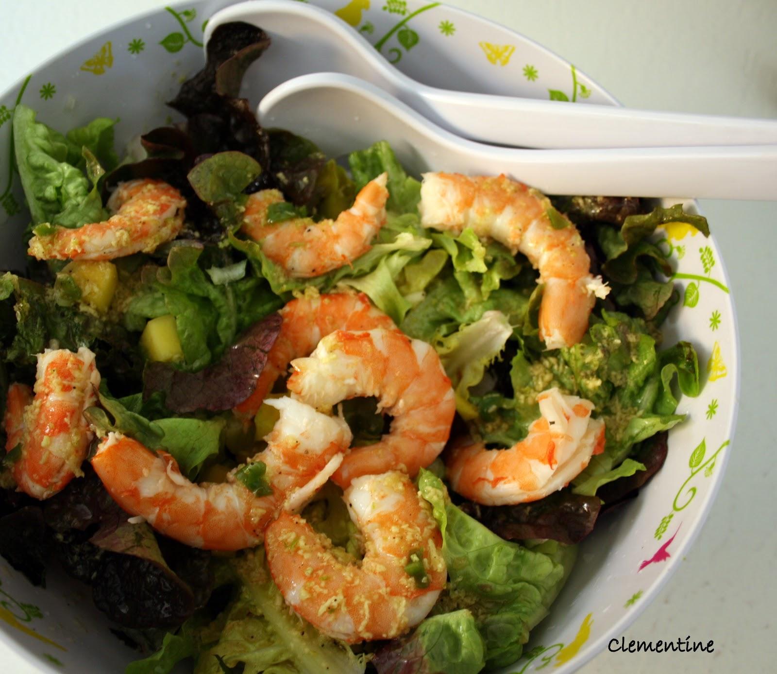 Le blog de clementine salade de gambas for Eliminer les vers des salades