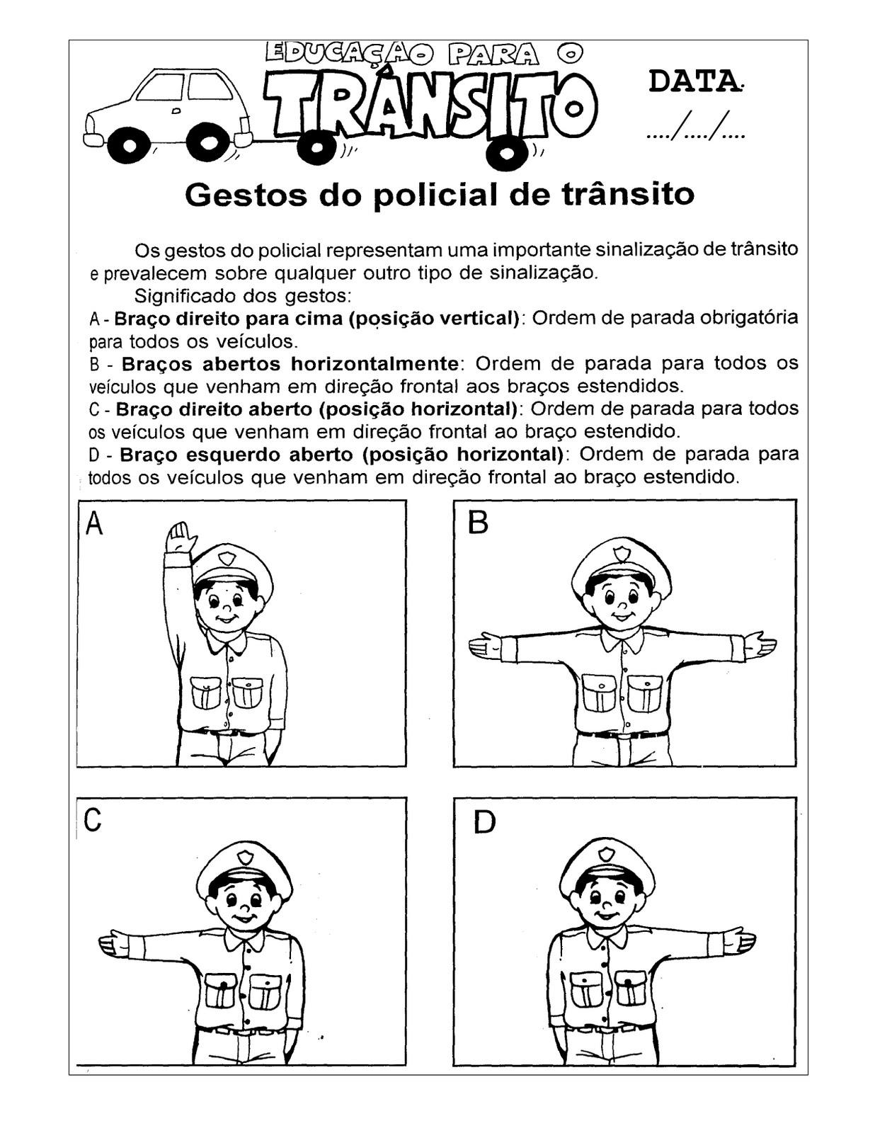 Well-known Cantinho da Profe Sheila: Projeto Semana do trânsito para o Ensino  LT91