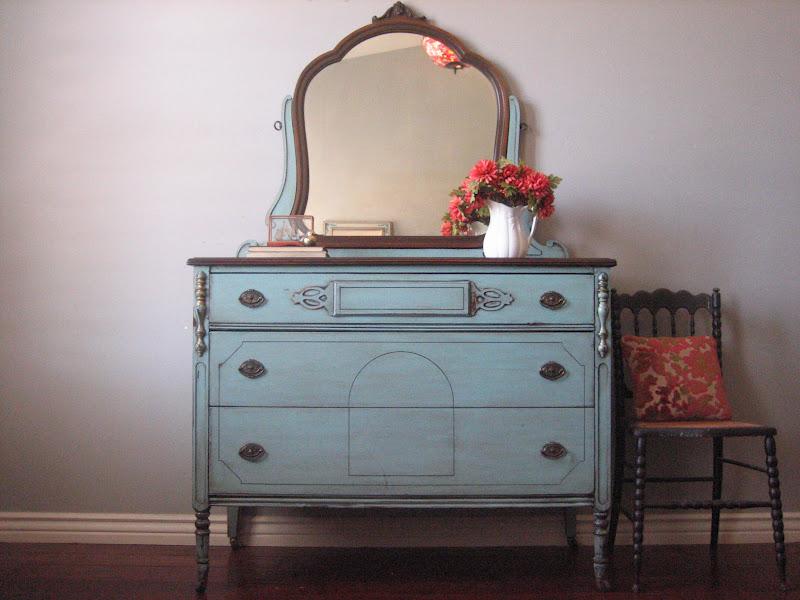 European Paint Finishes: Antique Dresser w/ Mirror