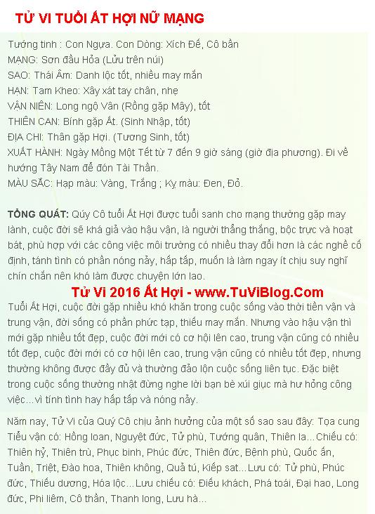Tu Vi Tuoi At Hoi 1995 Nam 2016