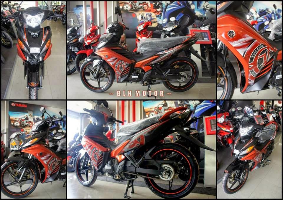 Yamaha 135LC ES Orange Black 2014   Warna Baru Lebih Hebat    Arena
