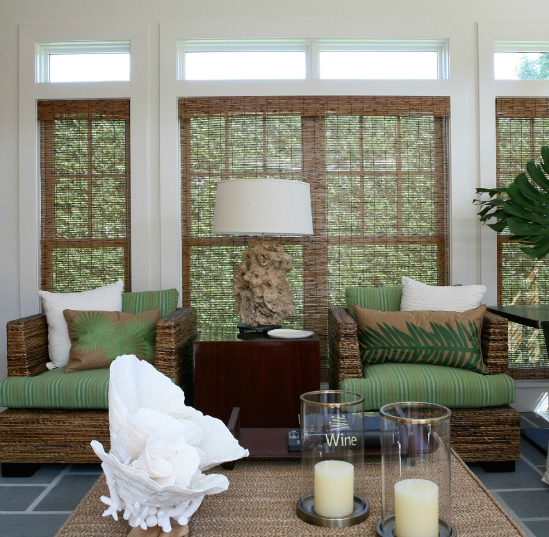 Coastal space with  rattan touches