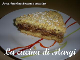torta sbriciolata di ricotta e cioccolato