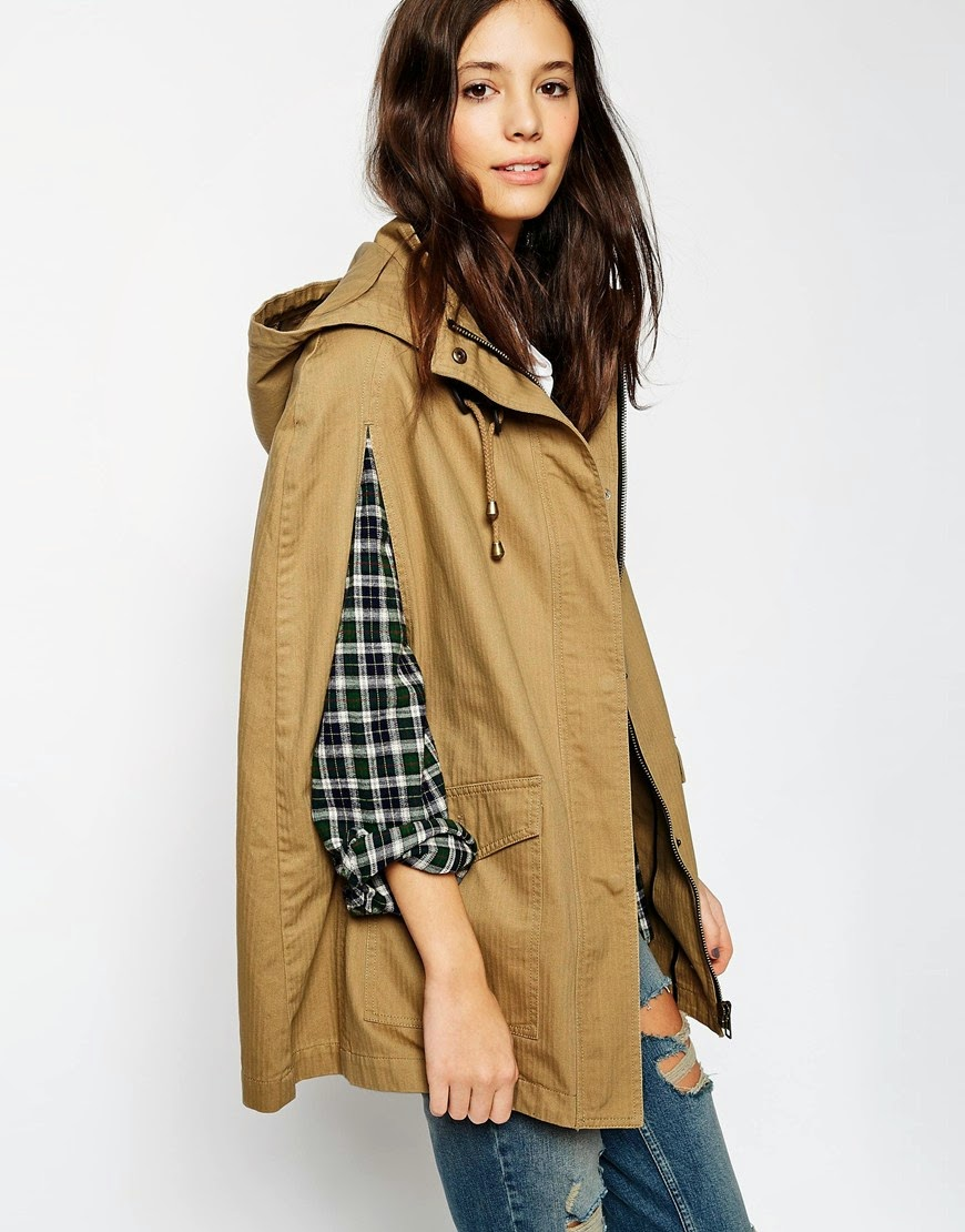 parka cape coat,