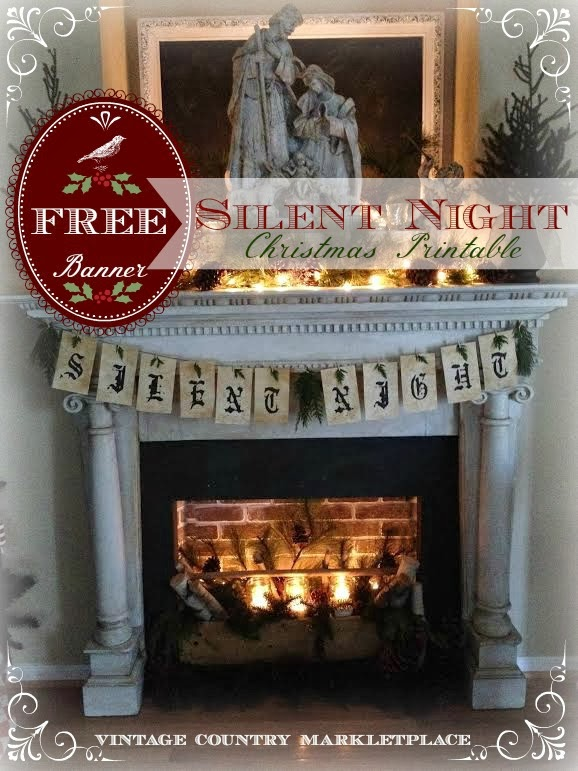 Silent Night Printable Banner