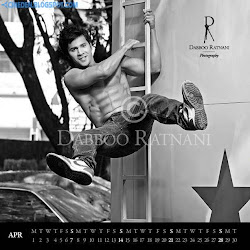 Varun Dhawan on Dabboo Ratnani 2013 Calendar Hot Celebrities Photoshoot Stills