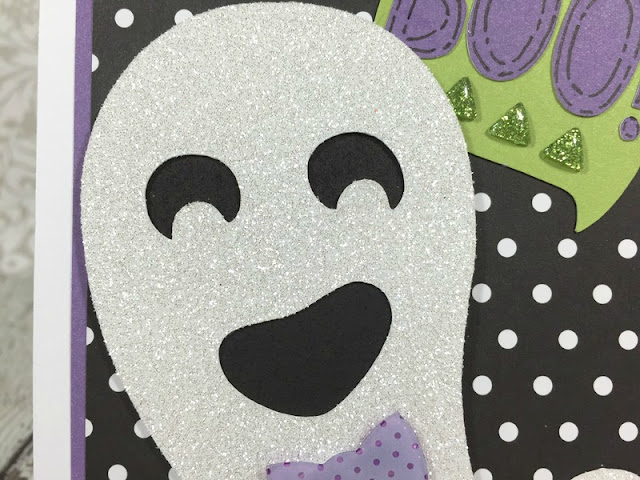 Cricut Artistry Boo ghost card