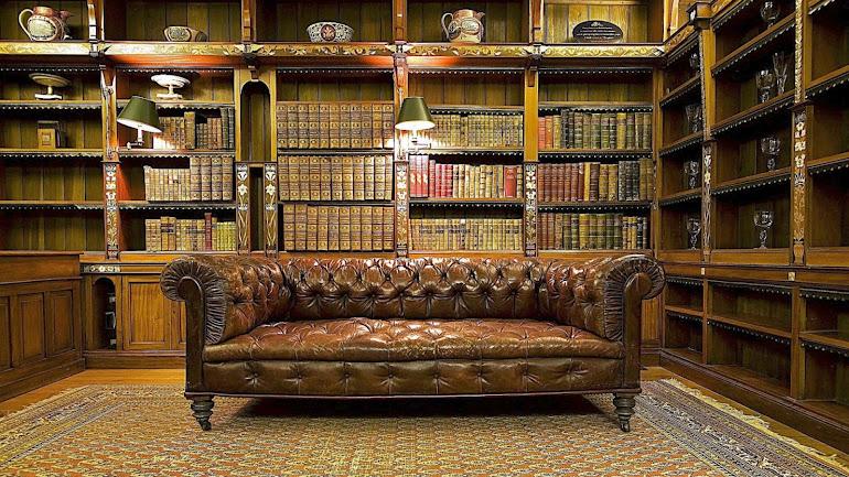 Interior Ancient Library