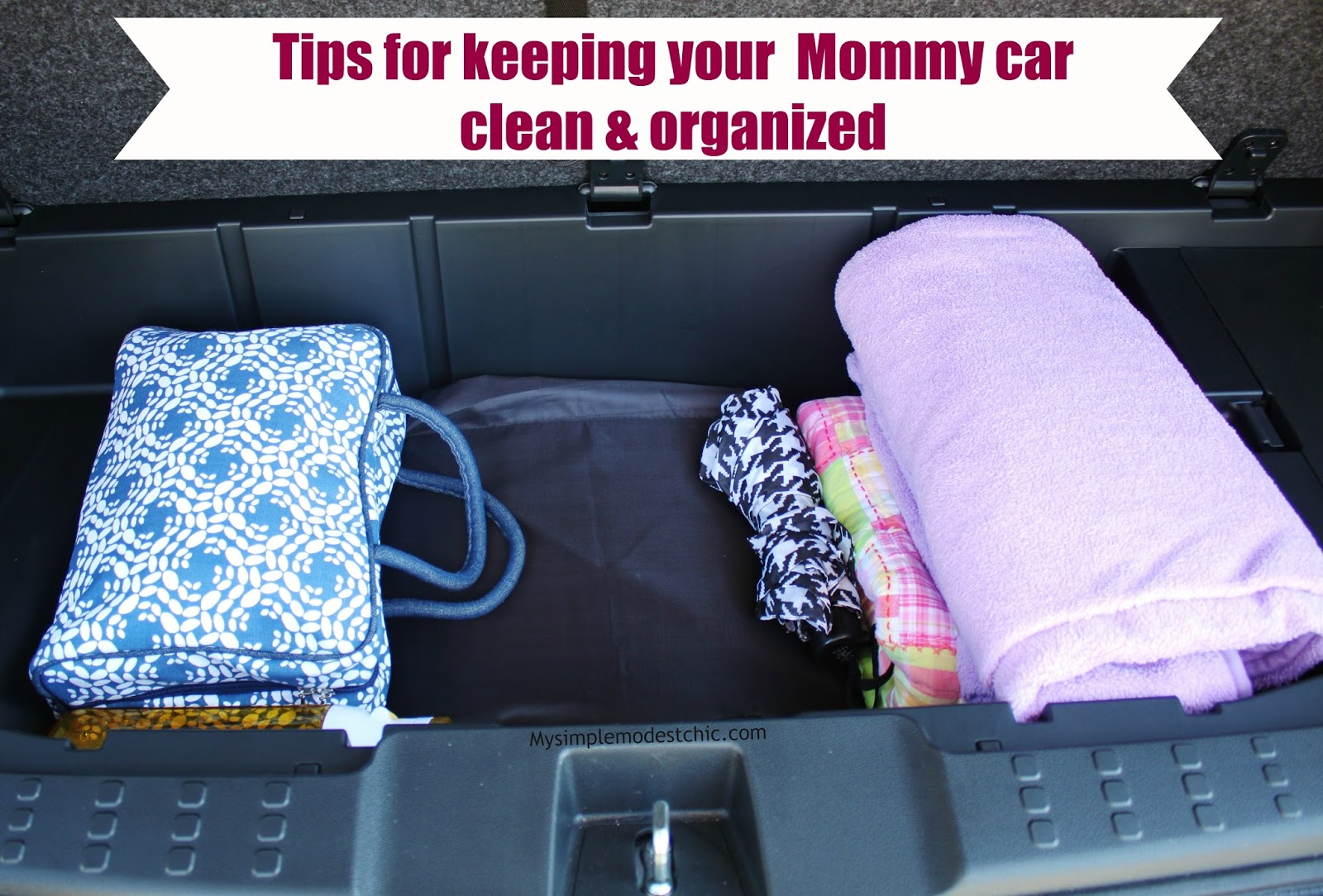 my simple modest chic tips to keep your car clean organized. Black Bedroom Furniture Sets. Home Design Ideas