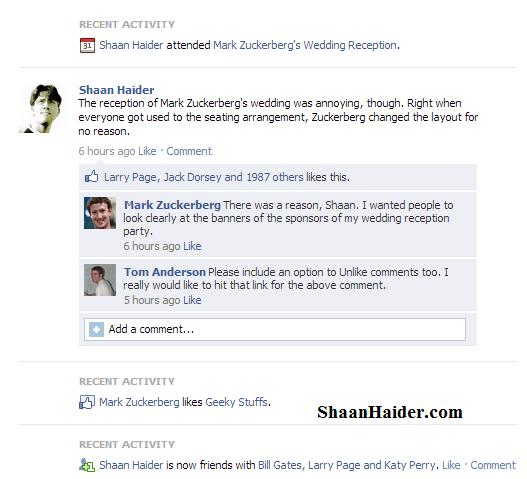 Create Fake Wall Posts Status on Facebook