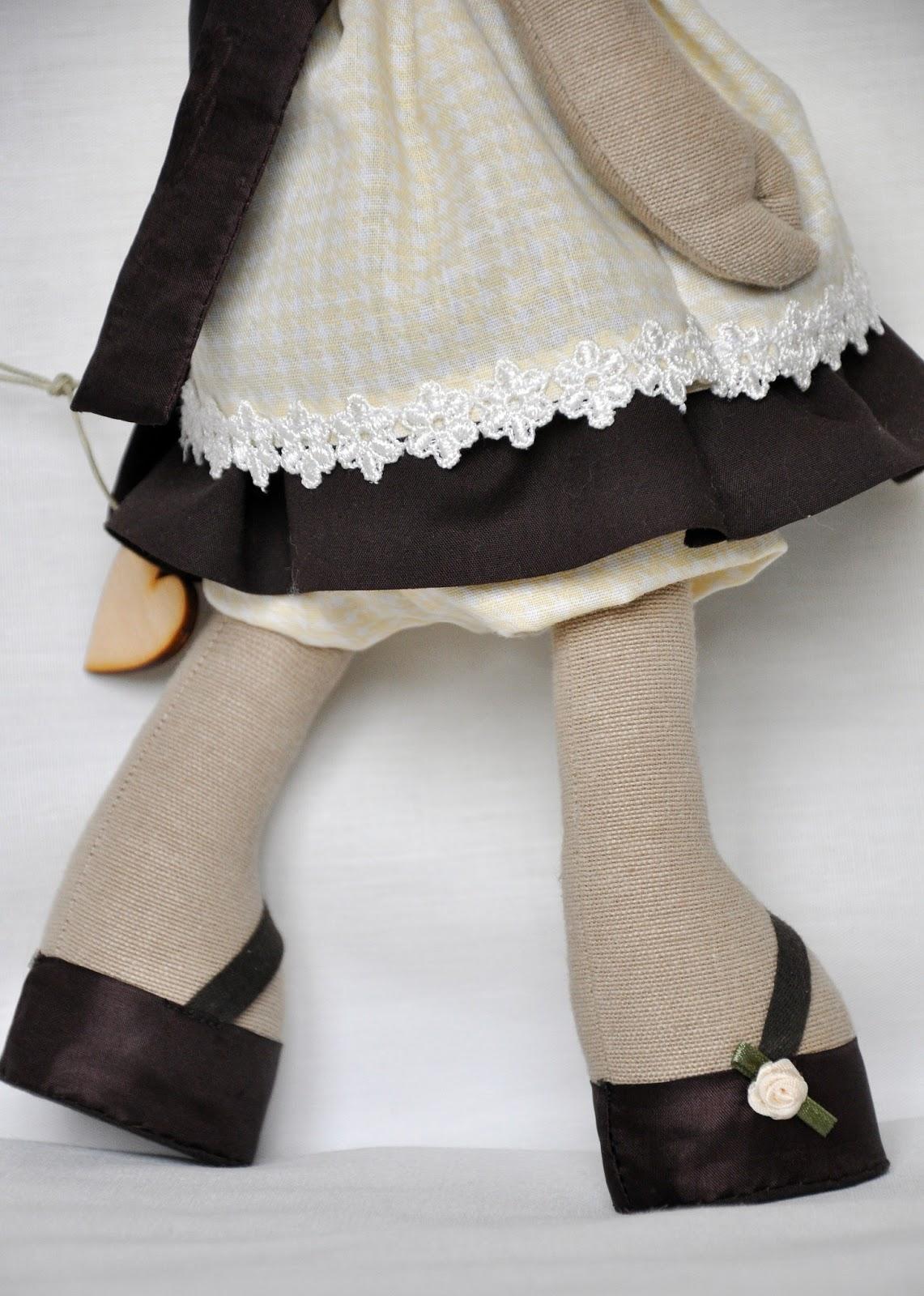 Коровка, текстильная игрушка ручной работы