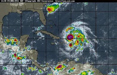 huracan Irene 24 de agosto 2011