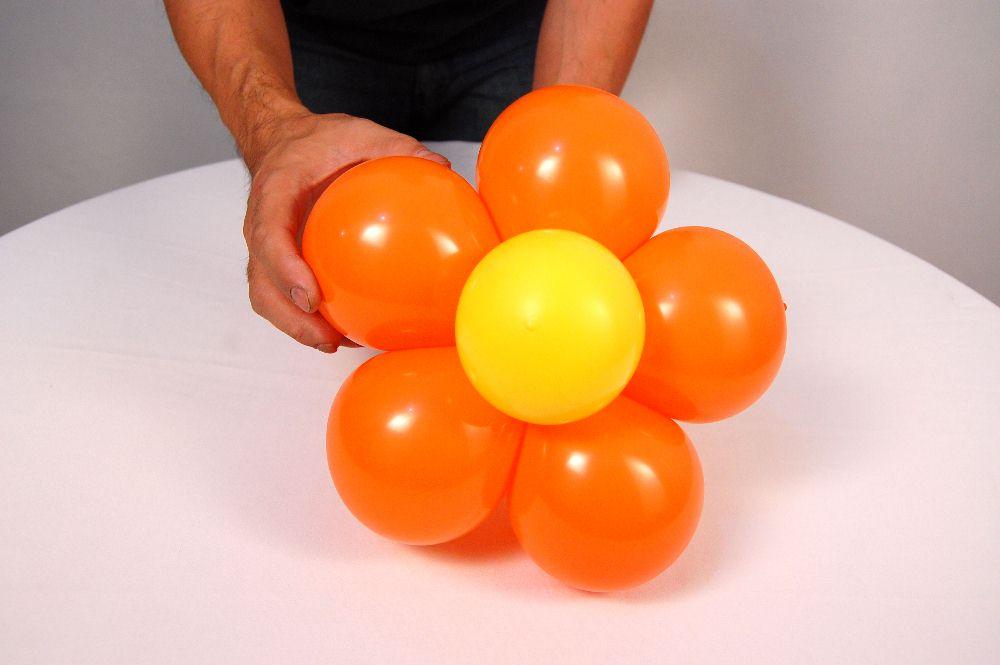 Voc u00ea faz Fácil Flor de bal u00e3o passo a passo # Decoração Com Balões Como Fazer Passo A Passo