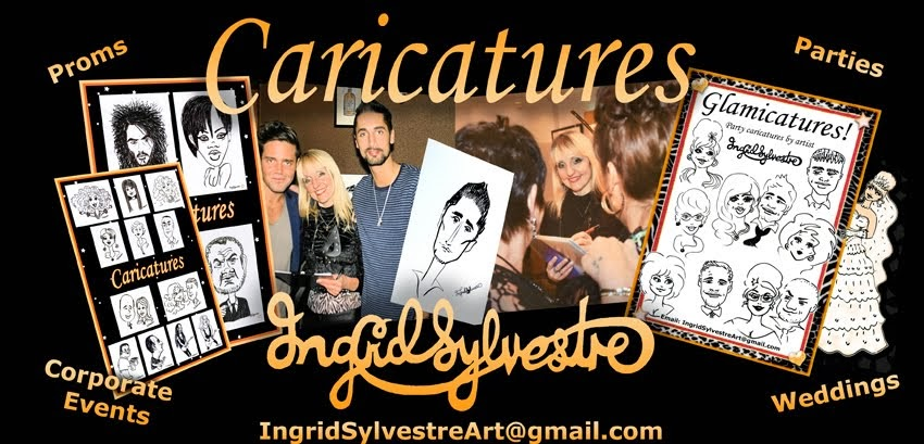 Ingrid Sylvestre Caricatures & Glamicatures