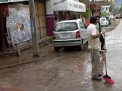 Las calles de Tuxtla Gutierrez, Chiapas, despues de una lluvia