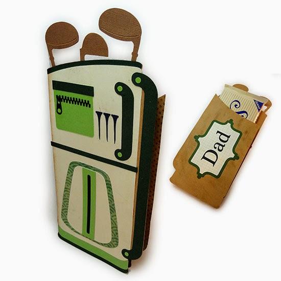 Needles N Knowledge Golf Club Candy Bar Wrap Construction