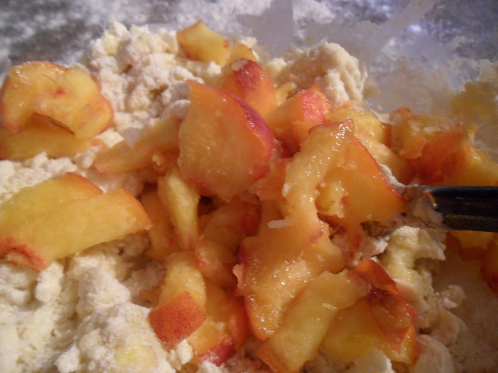 of each scone pressing peach into scone lightly 8 bake at 425 for 12 ...