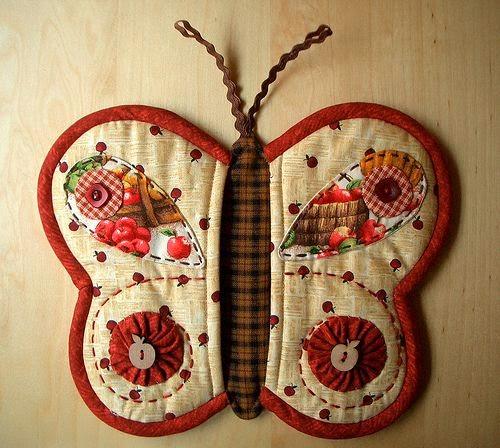 Moldes luva de borboleta para cozinha