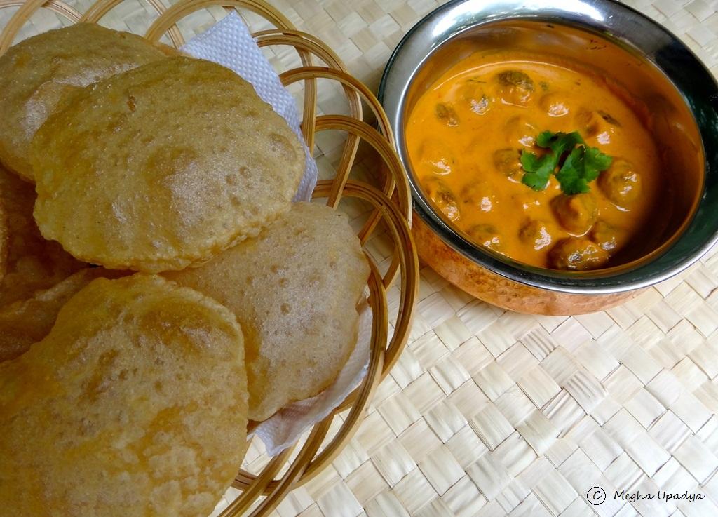 how to prepare poori curry in telugu