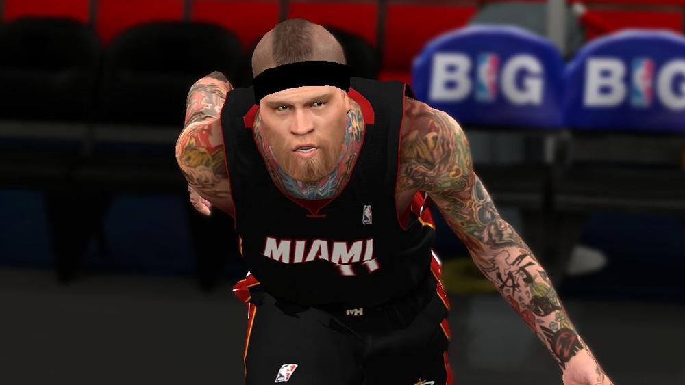 NBA 2K14 Chris Andersen No Mohawk Cyberface Mod