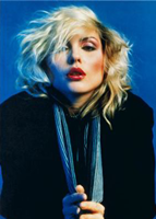 Mick Rock's shot of Debbie Harry