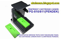 penyedot catridge pendek canon pg810 cl811 printer canon ip2770 mp258