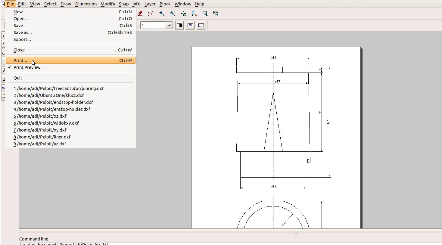Best tutorial engine 8 liner blueprint freecad librecad for Librecad templates download