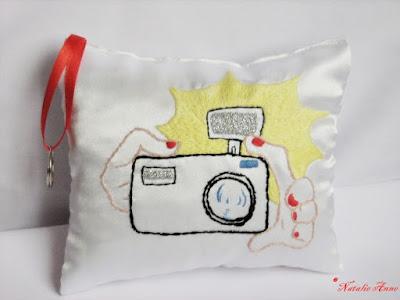 Personalizowana poduszeczka z atłasu/ Personalized pillow with satin