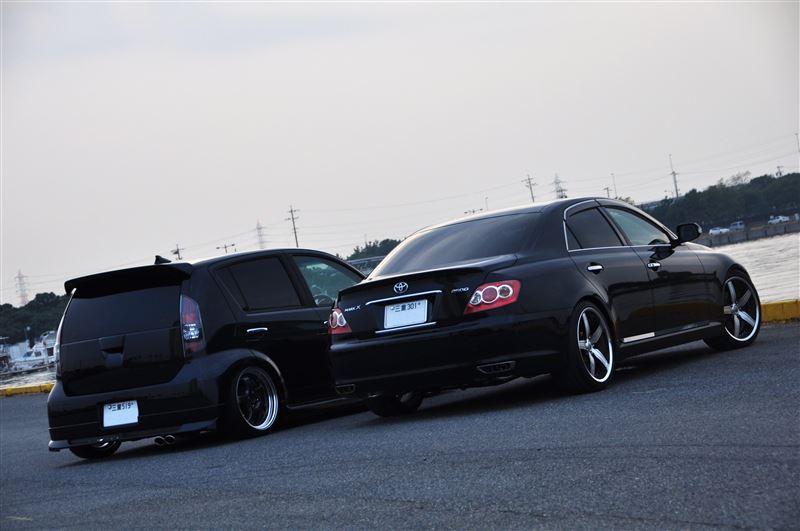 Toyota Passo & Toyota Mark X, JDM, japońska motoryzacja, tuning, czarny, zdjęcia