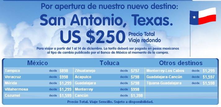 Cupon vuelo a San Antonio texas
