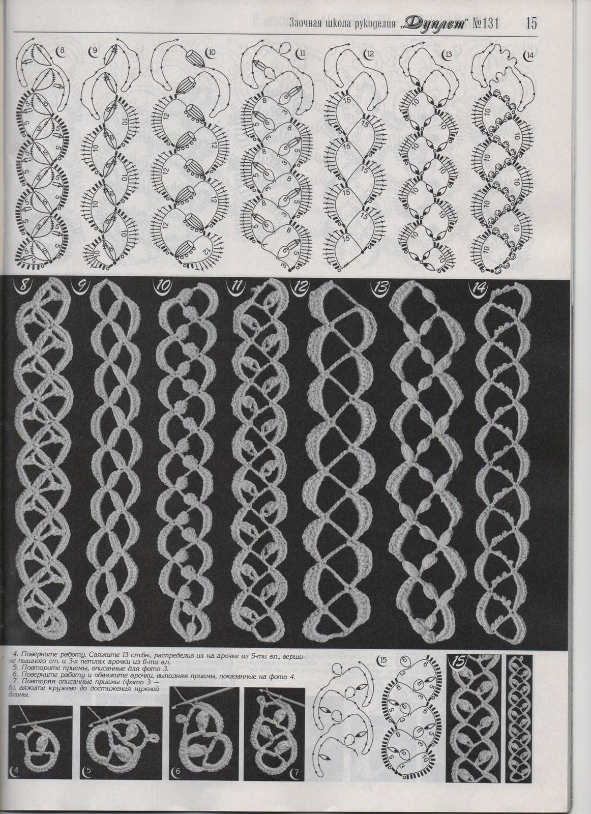 Вязание ажурной ленты
