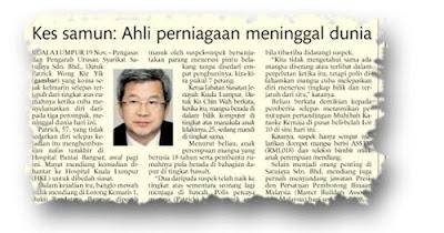 Keratan Utusan Malaysia 20 November 2009