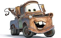 Disney's Pixar Cars Mater smiling