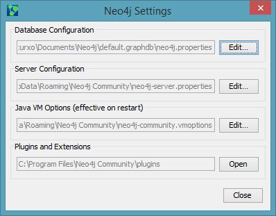 Configuración Neo4j