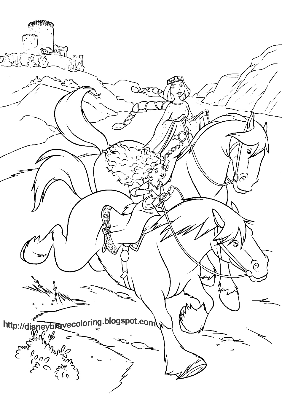 brave coloring sheet horses - Brave Coloring Pages
