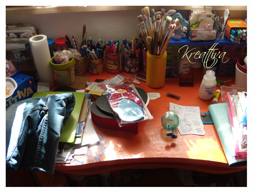 come organizzare il materiale creativo in poco spazio