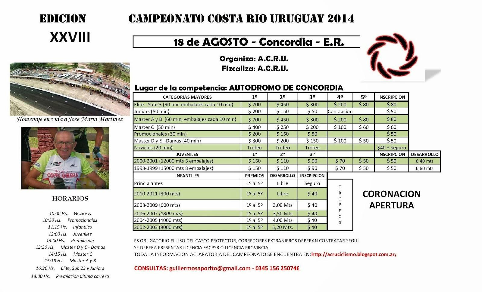 5º Fecha del Costa  2014 - Coronacion