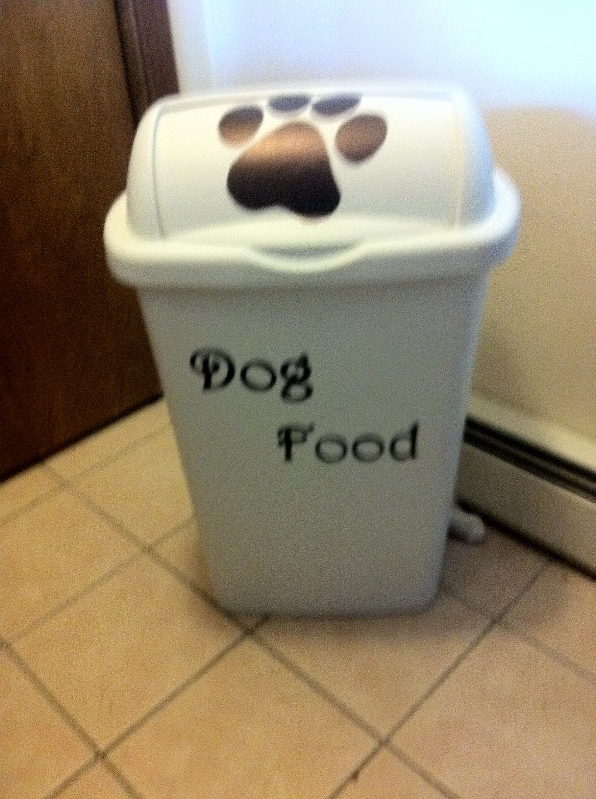 Cute Dog Food Storage Containers