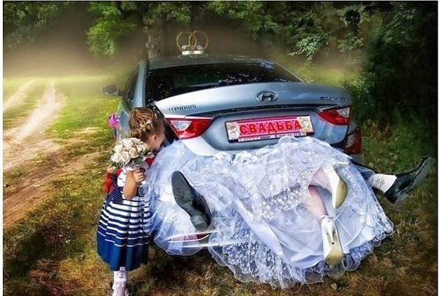 funny Russian wedding snaps