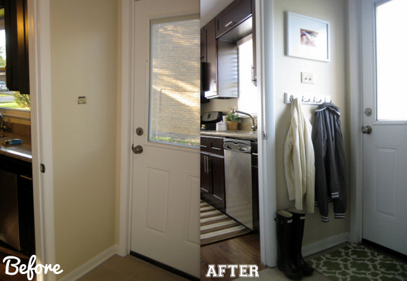 entrance before & after
