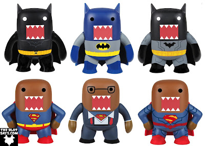 DC Comics x Domo Mystery Minis Blind Box Mini Figure Series by Funko - Domo as Dark Knight Batman, Classic Batman, New 52 Batman, Classic Superman, Clark Kent & New 52 Superman