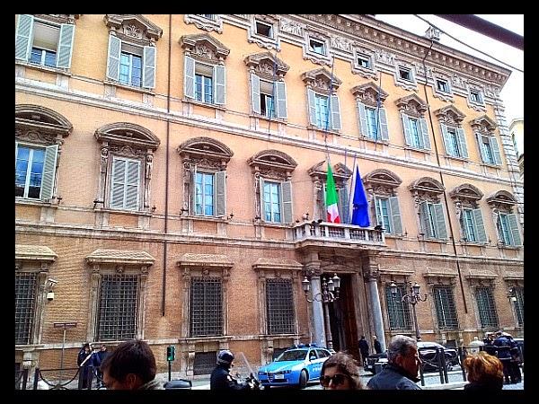 Fasada Palazzo Madama w Rzymie