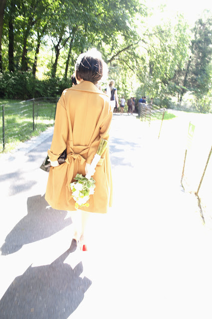 Bride enters Central Park destination