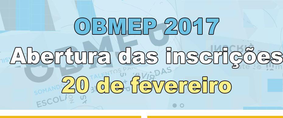 Notícias sobre a OBMEP/2017